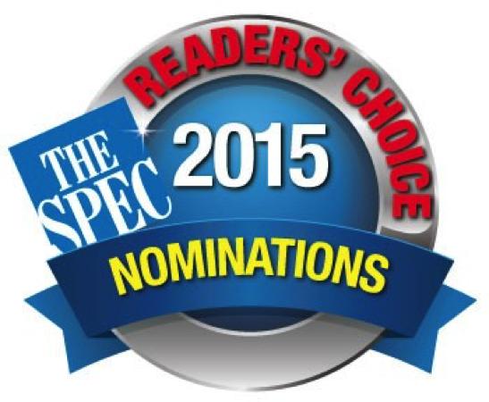 Hamilton Spectator 2015 Readers' Choice Awards.