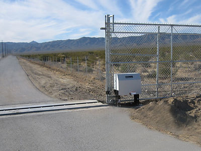 open gate on road