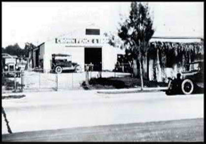 black and white photograph of Crown Fence building 1923