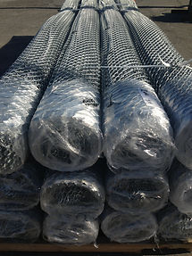 chain link bundles wrapped up and stacked