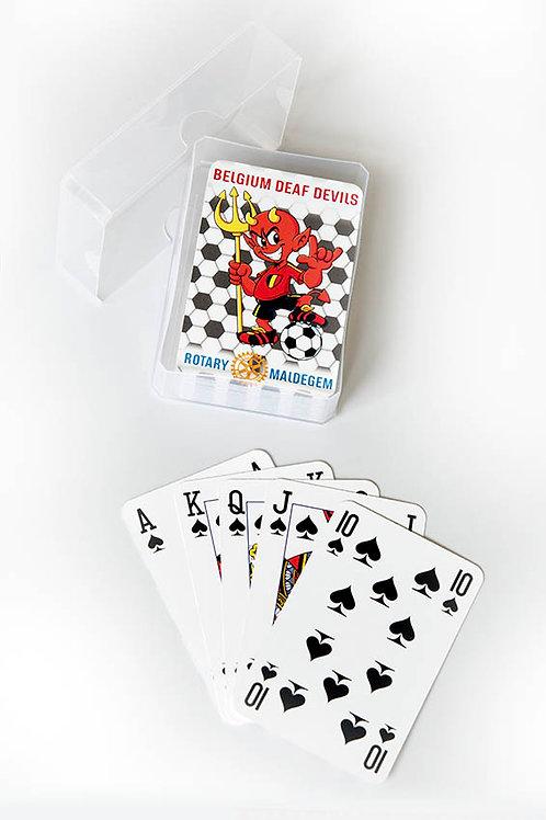Speelkaart van Belgian Deaf Devils