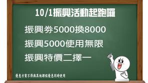 振興劵活動起跑了!5000換8000超優惠