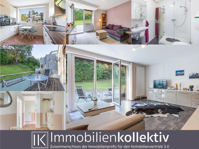 VERKAUFT: Aufwendig & ansprechend saniert: 2 Balkone, Keller, Garage, ca. 108 qm Wohn-/Nutzfläch