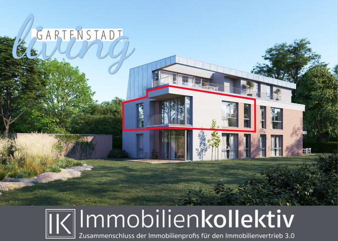 VERKAUFT!!! Exklusive Neubau 3-Zimmer-Wohnung mit Balkon, Keller, Parkett & 86 qm Wohn-/Nutzfläc