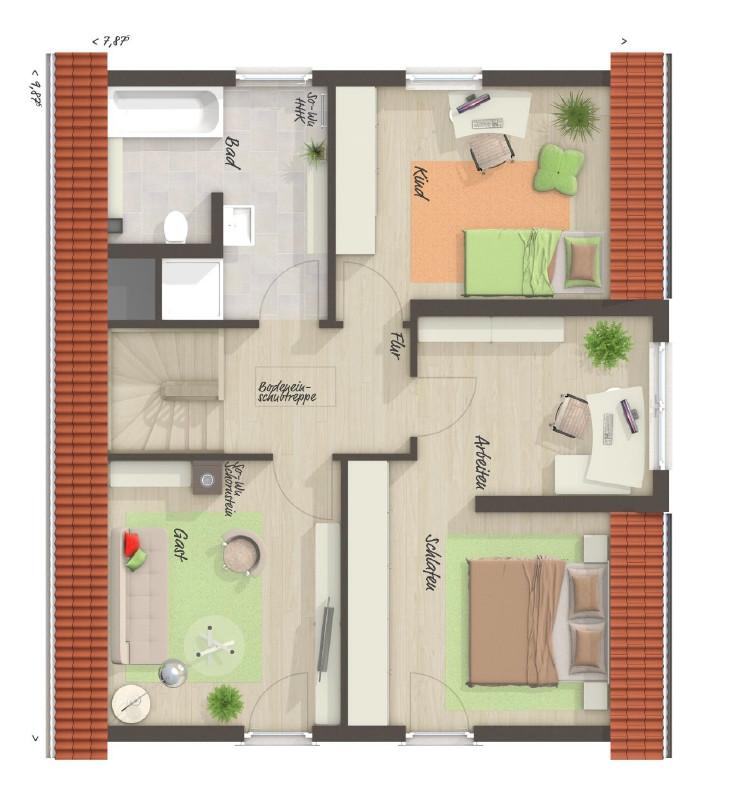 Grundriss Erdgeschoss Immobilienkollektiv Neubau Grundstück Haus kaufen verkaufen Bendestorf Jesteburg Buchholz Harburg Hamburg Immobilienmakler