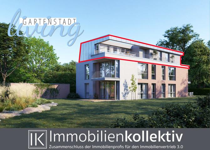 VERKAUFT!!! Exklusives Neubau Penthouse mit ca. 133 qm Wohn-/Nutzfläche & ca. 35 qm Dachterr