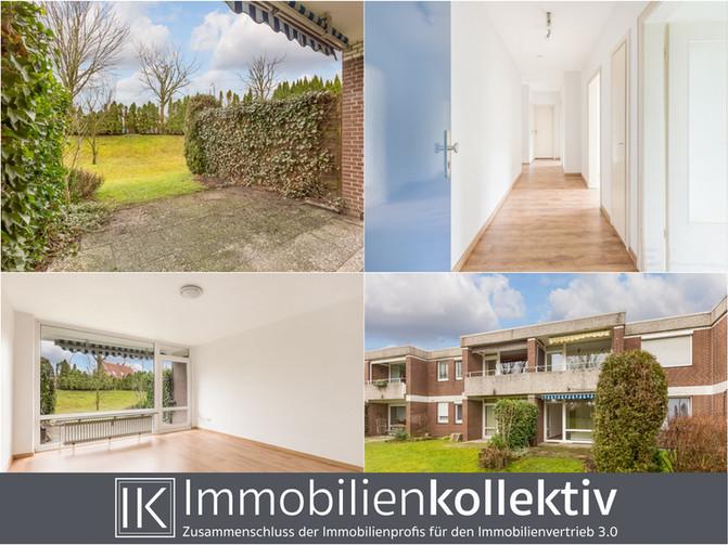 Verkauft !!! Frisch renovierte Erdgeschosswohnung mit Terrasse, Keller & Pkw-Stellplatz zum TOP