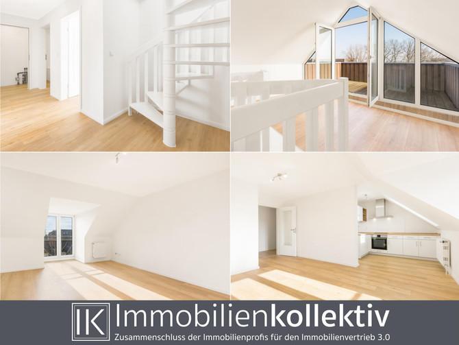 Verkauft !!! Junge, modernisierte Maisonette Wohnung mit großer Dachterrasse & Tiefgarage !!!
