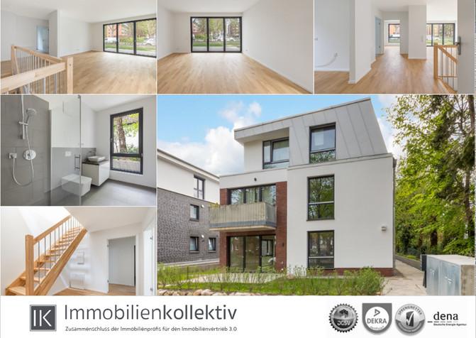 VERKAUFT!!! Hochwertige Neubau Maisonette-Wohnung auf 2 Ebenen, mit Garten, Terrasse & 121 q