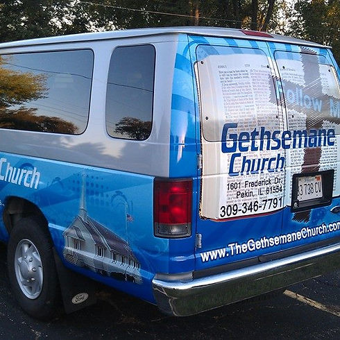 Gethsemane Church Bus Pekin IL