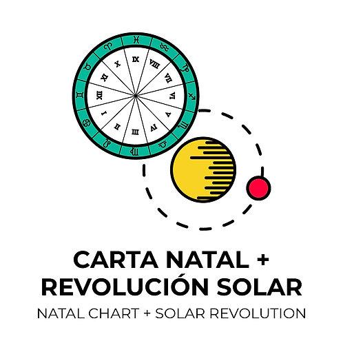 COMBO LECTURA CARTA NATAL + REVOLUCIÓN SOLAR