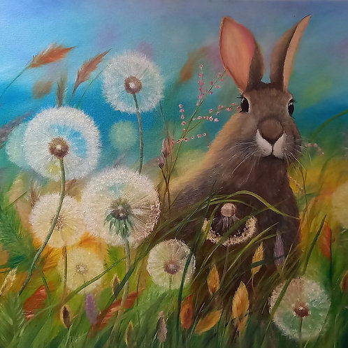 Hare with Dandelions