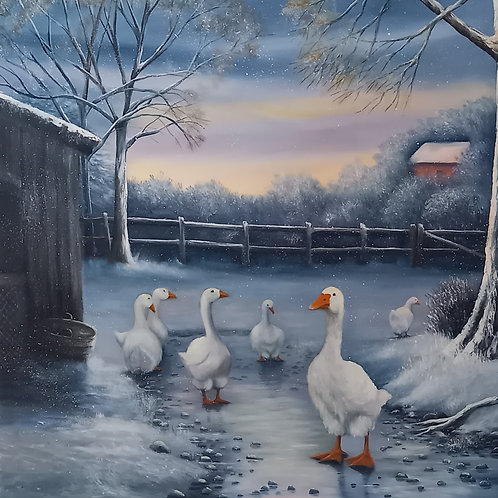 SOLD - Winter Geese