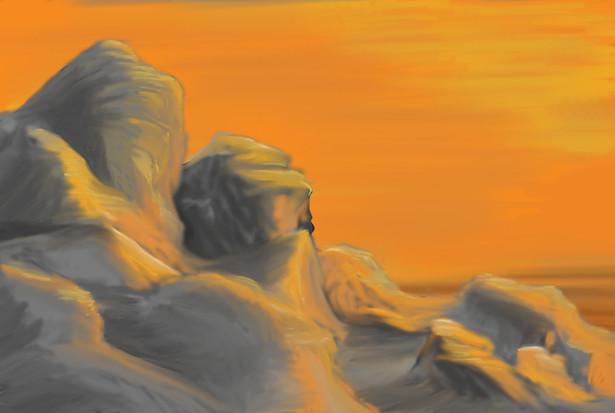 Resulting landscape art in Photoshop
