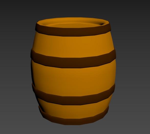 3D Modelled Barrel Prop