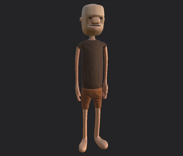 Character textured
