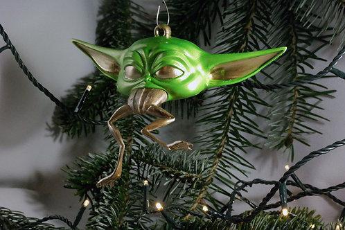 Baby Yoda - Mit Frosch - Weihnachtsdeko