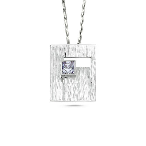 Rectangle Blue Square Necklace