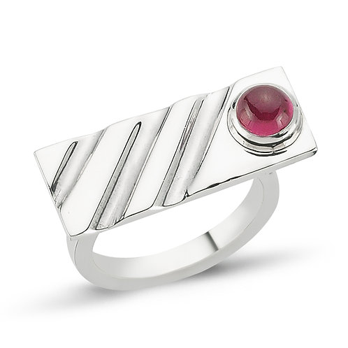 Slashes Ruby Ring