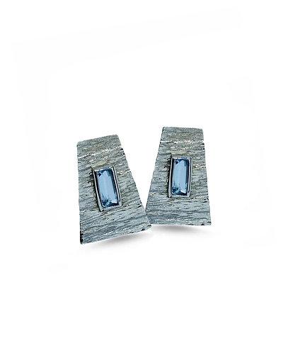 Aquamarin Trapez Earrings