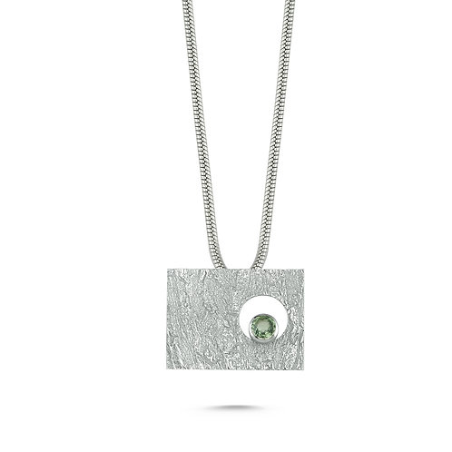 Rectangle Green Eye Necklace