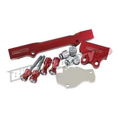 Aeroflow (GEN-2) Fuel Rail Kit (FD) RX-7 (Red)