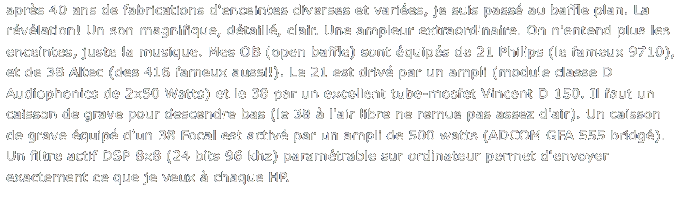 commentaire audiophile