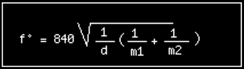 fréquence de résonnance de système de parois