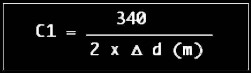 Formule calcul filtrage en peigne en fonction de la distance