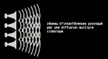 réseau d'interferences provoqué par une multiple diffusion classique