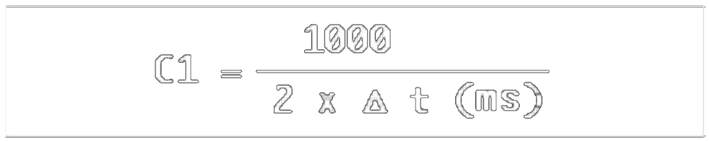 Formule calcul fréquences de filtrage en peigne