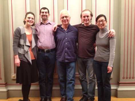 After recording Johannes Brahms's String Quintet in G Major with violist Roger Tapping, Spring 2012