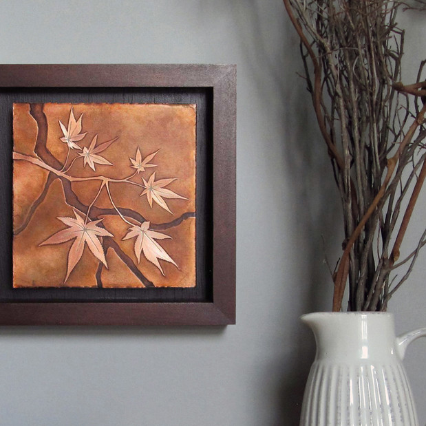 Etched Copper Japanese Maple Branch