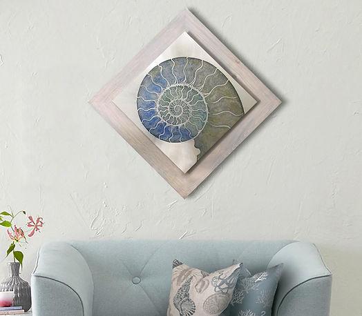 Silver Nautilus with blue love seat 2 ne