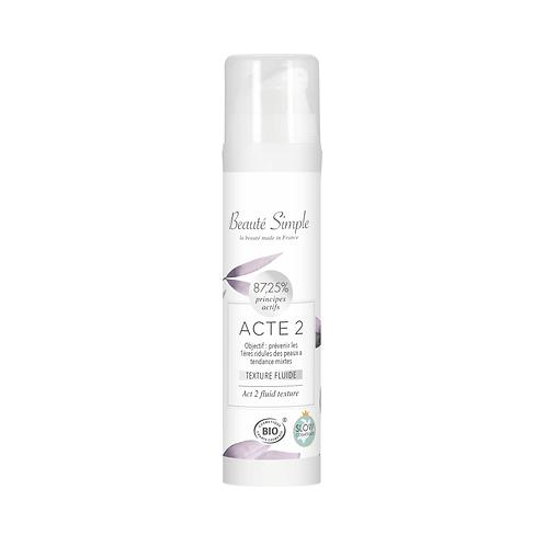 Creme hydratante - Acte 2 - Peaux normales a mixtes, déshydratée