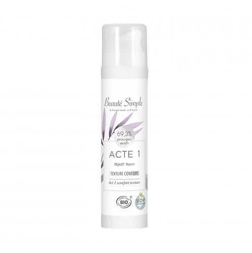Creme hydratante Acte 1- Peaux sèches ou fragiles