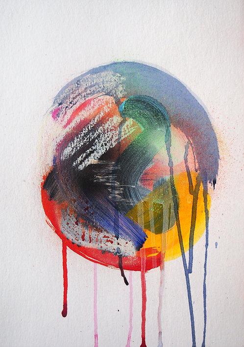 Blair Zaye, DemiUrge 1, on paper, A4