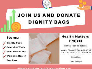 Join Us And Donate Dignity Bags