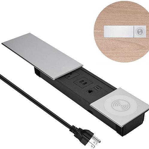 Desk Power Outlet Conference Recessed Power Strip Socket 6ft Cord,Desktop Wirele