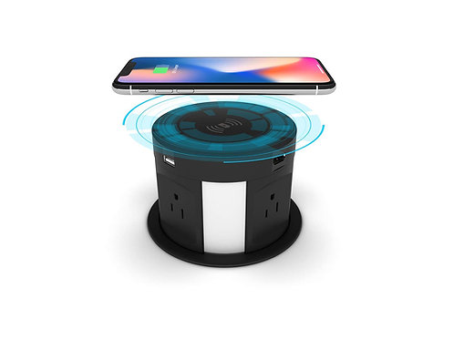 Automatic Retractable Pop Up Socket  Power Strip with Wireless Charger