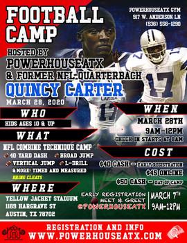 March 2020 Football Camp w/Powerhouse ATX