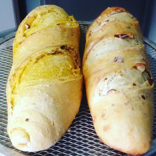 Pães de Abóbora Cabotiá e de Castanhas do Pará