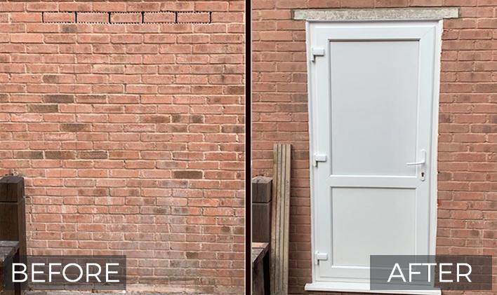 1brick wall door