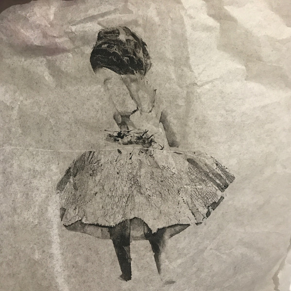 Monoprint using gelplate.