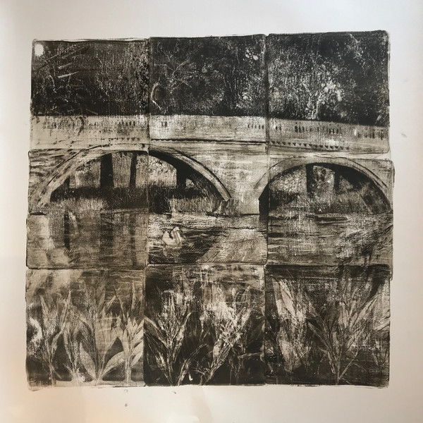 Monoprint using gelplate. 45x45cm.