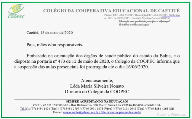 Comunicado 15/05