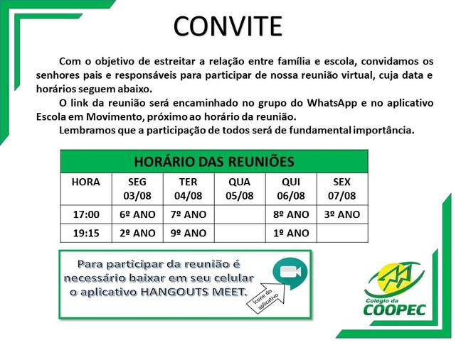 Convite para reunião