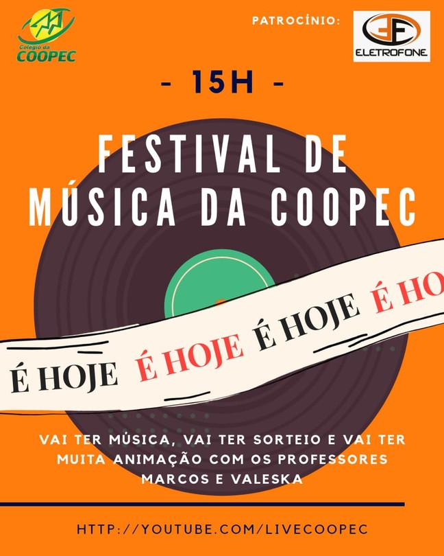 É hoje!! Festival de Música da Coopec #CoopecEmCasa