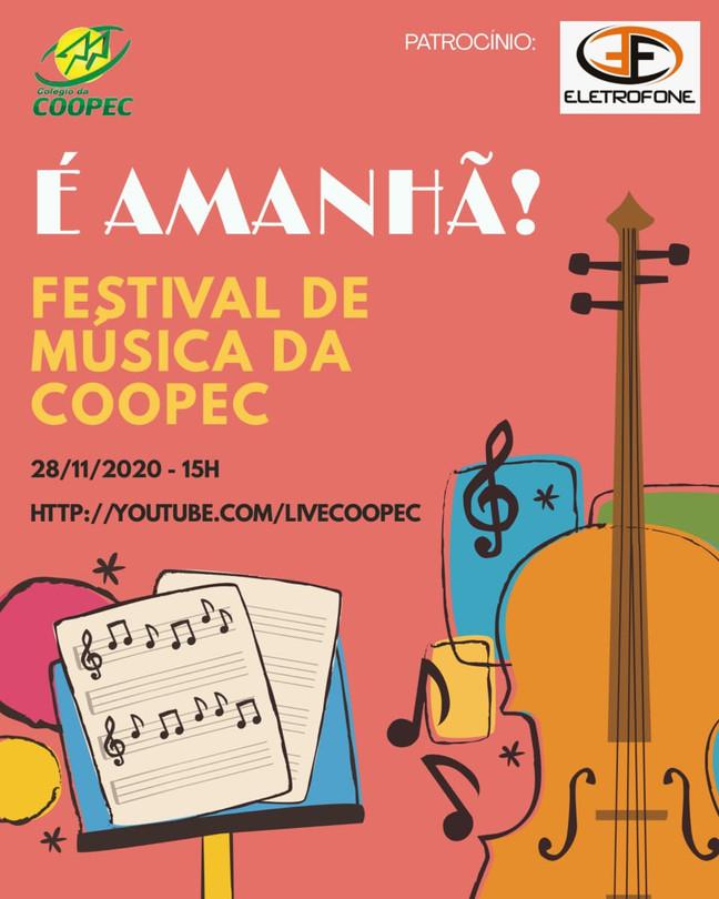 Vai ter Festival de Música sim! É amanhã!