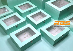Wedding Gowns Packaging Boxes | Tiffany Blue Packaging Rigid Boxes | Luxury Wedding Gown Packaging